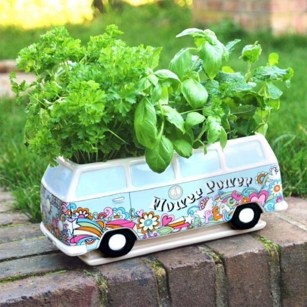 campingbus herbert planter vase im hippie look geschenk f r. Black Bedroom Furniture Sets. Home Design Ideas