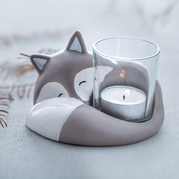 Teelicht mit fuchs von leonardo geschenk f r for Geschenke aus salzteig