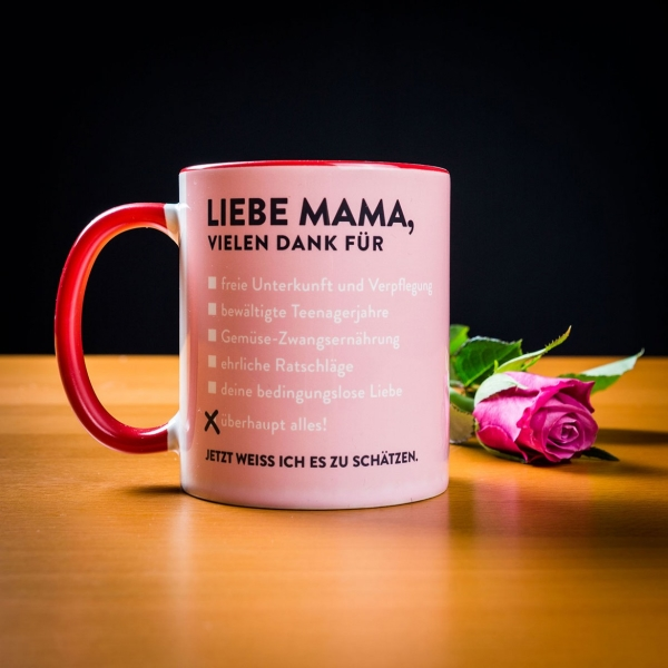 liebe mama tasse geschenk f r. Black Bedroom Furniture Sets. Home Design Ideas