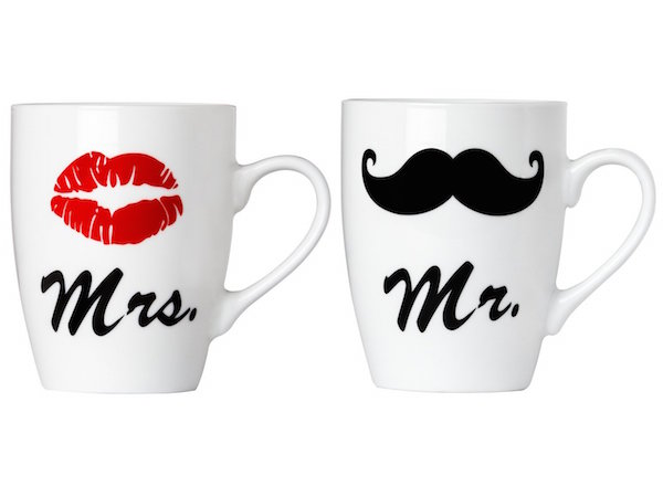 kaffeebecher mr und mrs geschenk f r. Black Bedroom Furniture Sets. Home Design Ideas