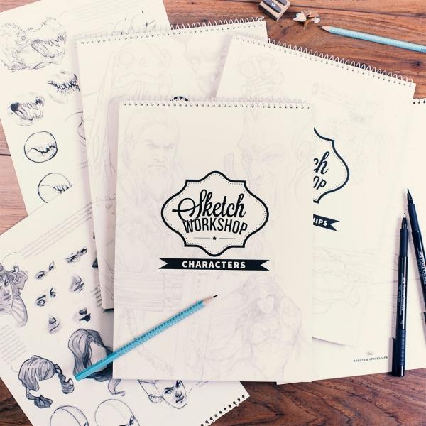 sketch workshop characters das buch zum zeichnen lernen. Black Bedroom Furniture Sets. Home Design Ideas