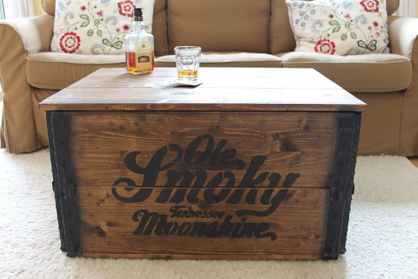 vintage holzkiste aus massivholz mit schriftzug geschenk f r. Black Bedroom Furniture Sets. Home Design Ideas