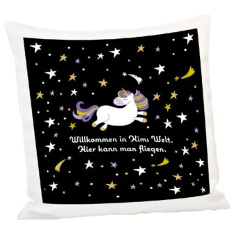 Einhorn-Kissen mit Personalisierung