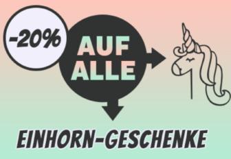 Nur noch heute – 20% Rabatt auf alle Einhorn Geschenke bei Radbag
