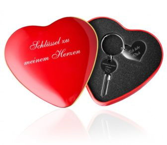 Schlüssel zu meinem Herzen mit Gravur