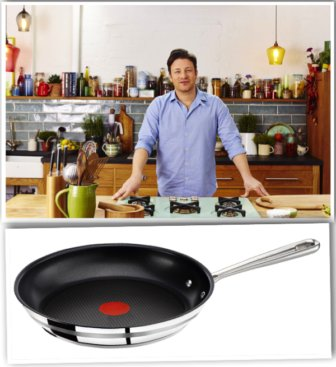 Tefal E85606 Jamie Oliver Edelstahl Pfanne 28 cm im Angebot des Tages