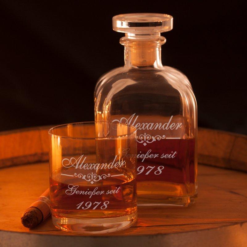 whiskykaraffe mit gravur geschenk fuer